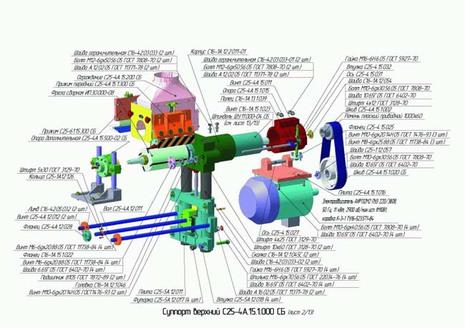 Суппорт верхний С25-4А.15.1.000 СБ