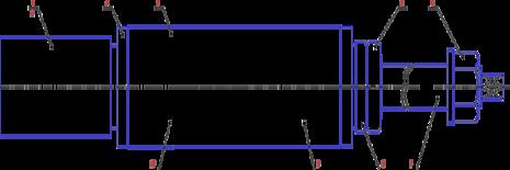 Шпиндель верхний С16-42.10.000