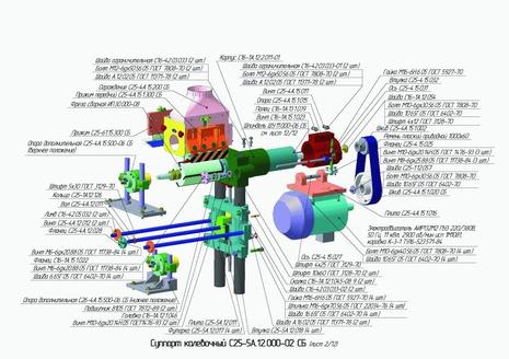 Суппорт калевочный С25-5А.12.000-02 СБ