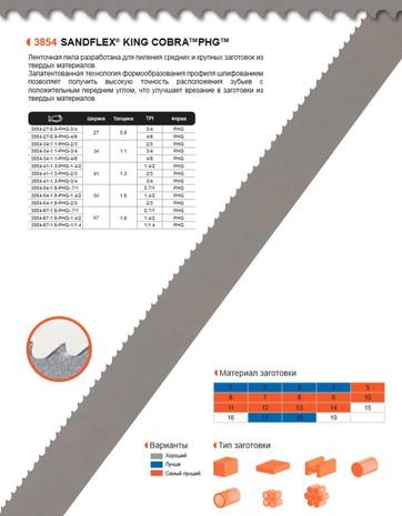Ленточная пила по металлу Bahco SANDFLEX KING COBRA PHG (Ширина 54мм / Толщина 1.6мм)