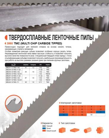 Ленточная пила по металлу Bahco TMC (Ширина 54мм / Толщина 1.6мм)