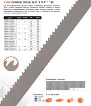 Ленточная пила по металлу Bahco CARBIDE TRIPLE SET XTRA TSX (Ширина 80мм / Толщина 1.6мм)