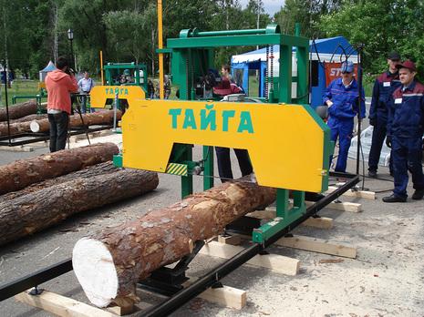 Ленточная пилорама Тайга Т-3 бу