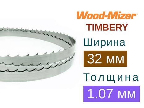 Ленточная пила по дереву Wood-Mizer TIMBERY (Ширина 32мм / Толщина 1.07мм)