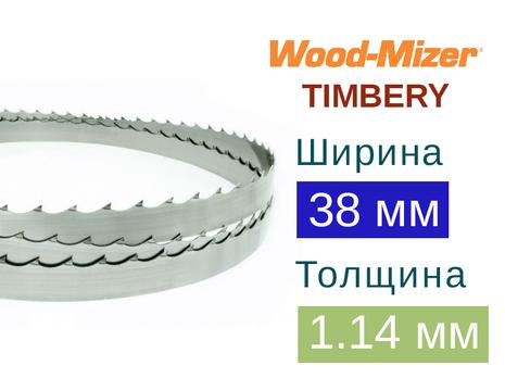 Ленточная пила по дереву Wood-Mizer TIMBERY (Ширина 38мм / Толщина 1.14мм)